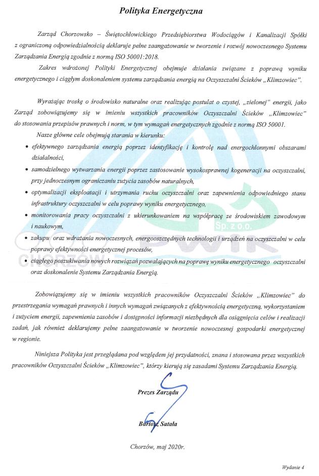 Polityka energetyczna - wersja 4 (05.2020) - dokument niedostępny dla niewidzących